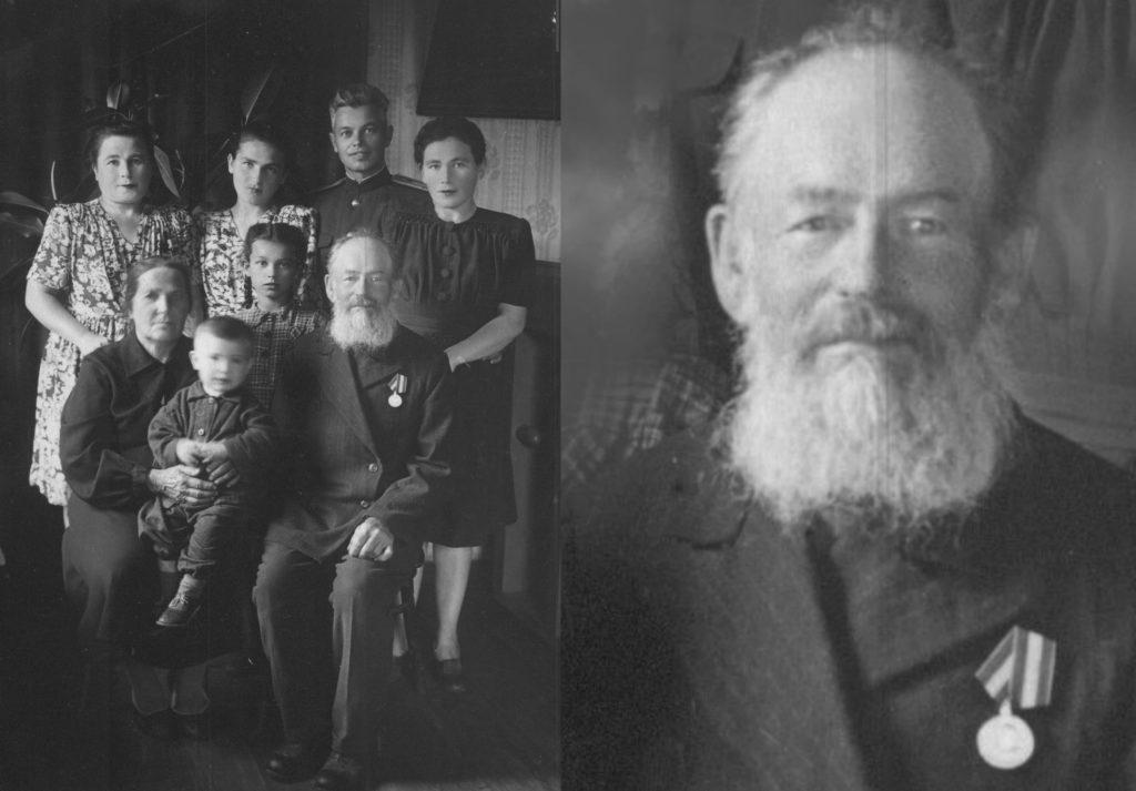 Семья Бутровых и Деминых , лето 1949. М.П.Бутров